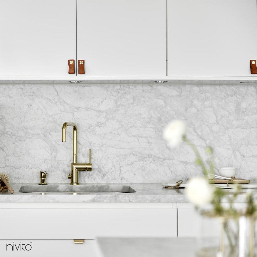 Gold brass kitchen tapware