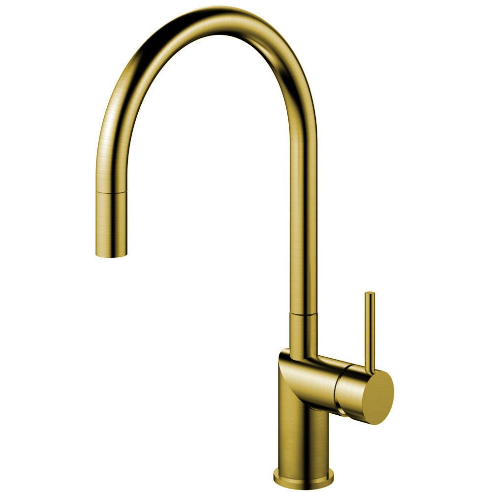 Brass/Gold Kitchen Tap Pullout hose - Nivito RH-140-EX