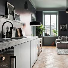 Black Kitchen Mixer Tap - Nivito 2-RH-120