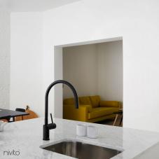 Black Kitchen Mixer Tap - Nivito 4-RH-120