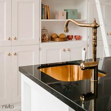 Copper Kitchen Mixer Tap - Nivito 2-CL-170