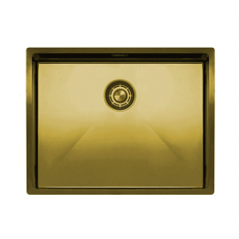 Brass/gold Kitchen Sink - Nivito CU-550-BB