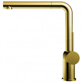 Brass/gold Kitchen Mixer Tap Pullout hose - Nivito RH-640-EX